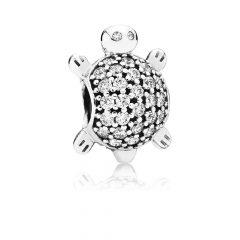 фотография шарм пандора сверкающая черепаха 791538CZ