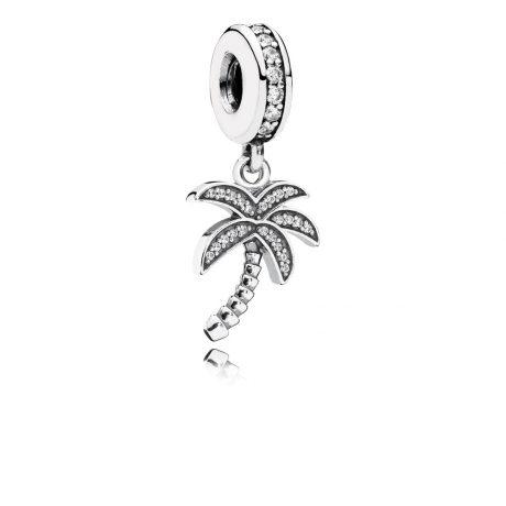 фотография подвеска-шарм пандора тропическая пальма 791540CZ