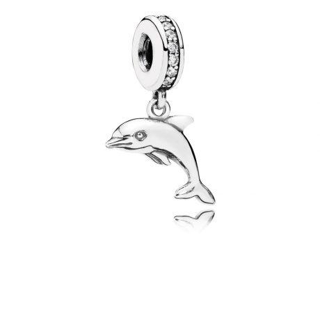 фотография подвеска-шарм пандора дельфин 791541CZ