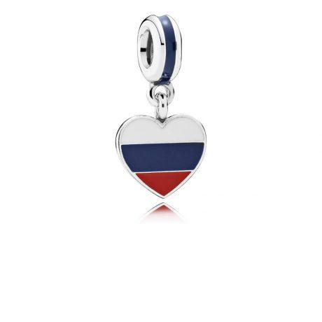 фотография подвеска-шарм пандора флаг россии 791549ENMX