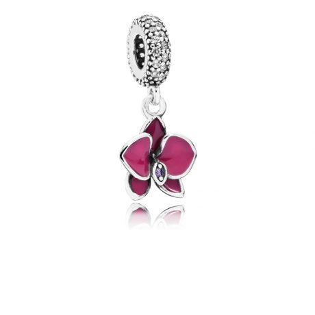 фотография подвеска-шарм пандора малиновая орхидея 791554EN69