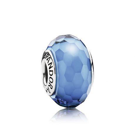 фотография мурано пандора голубая граненая 791607