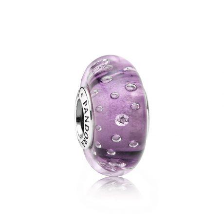 фотография мурано пандора капельки на фиолетовом (хамелеон) 791616CZ-