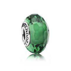 фотография шарм пандора мурано зеленое стекло 791619