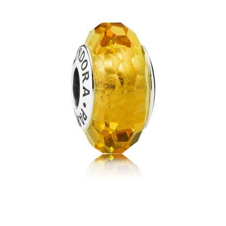 фотография мурано пандора желтая граненая 791629