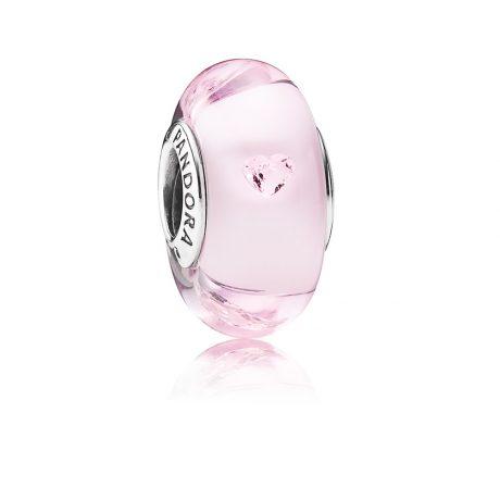 фотография шарм пандора мурано розовая 791632PCZ