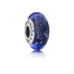 фотография мурано пандора сине-черная граненая с шиммером 791646