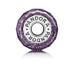 фотография мурано пандора фиолетовая граненая с шимером 791663 №1