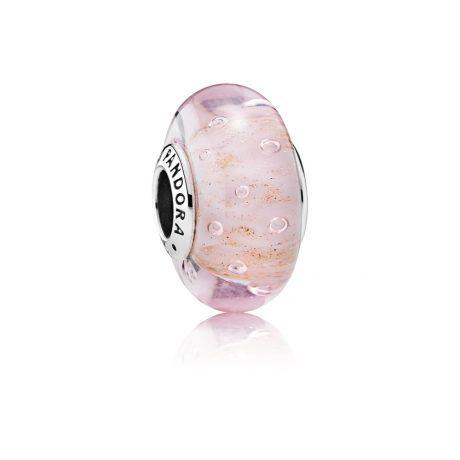 фотография мурано пандора розовая с золотом 791670