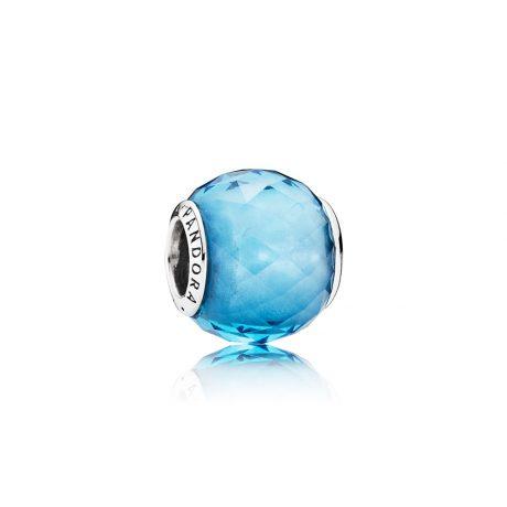 фотография мурано пандора ярко-голубой кристалл 791722NBS