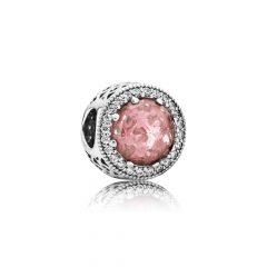 фотография шарм пандора розовые сияющие сердца 791725NBP