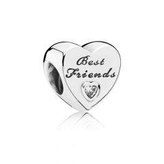 фотография шарм пандора лучшие друзья серебро 791727CZ