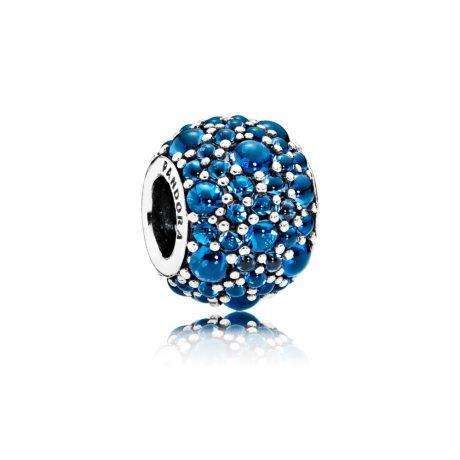 фотография шарм пандора синие капли росы 791755NLB