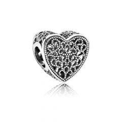 фотография шарм пандора ажурное сердце 791811
