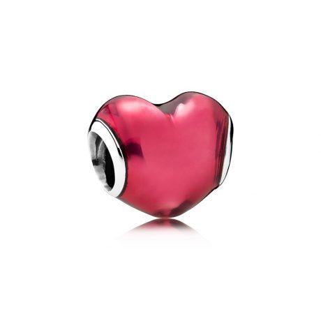 фотография шарм пандора яркая любовь фиалковая эмаль 791814EN62