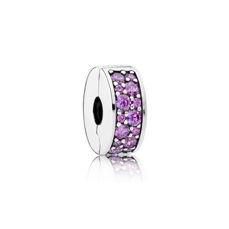 фотография клипса пандора сверкающее кольцо пурпурное 791817CFP