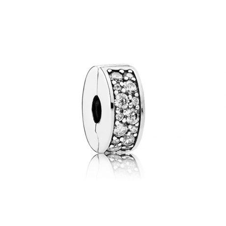фотография клипса пандора сверкающее кольцо прозрачное 791817CZ