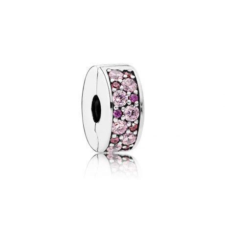 фотография клипса пандора сверкающее кольцо лиловые камни 791817CZSMX