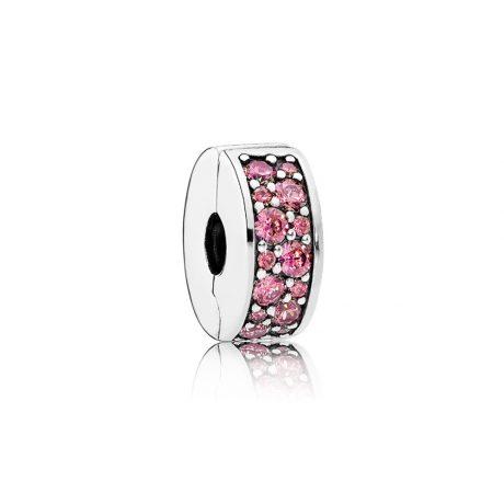 фотография клипса пандора сверкающее кольцо розовое 791817HCZ