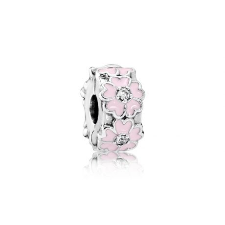 фотография клипса пандора розовые примулы 791823EN68
