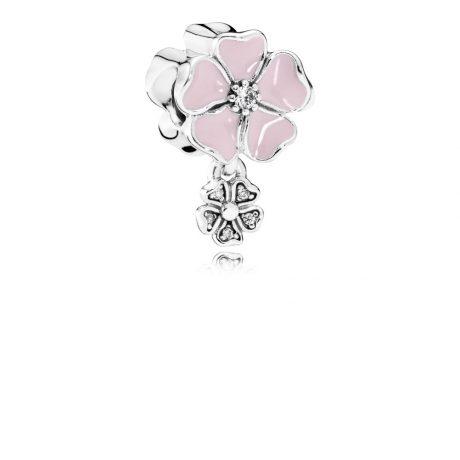 фотография шарм подвеска пандора розовая маргаритка 791827EN40