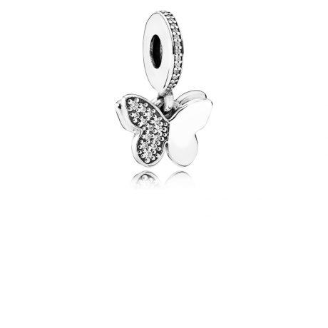 фотография подвеска пандора блестящие бабочки 791844CZ