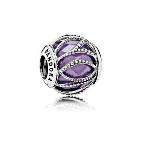 фотография шарм мурано пандора сияние линий пурпурный 791968ACZ