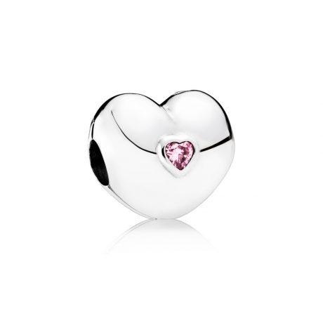 фотография клипса пандора сердце любви 791981PCZ