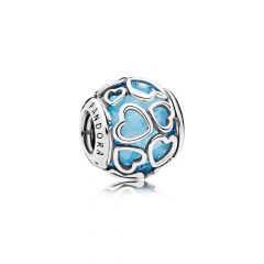 фотография мурано шарм пандора сияние любви голубой 792036NBS