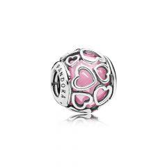 фотография шарм пандора мурано розовое сияние природы 792036PCZ