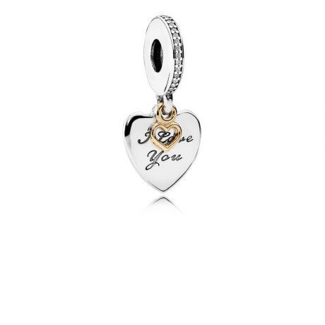 фотография подвеска пандора любимое сердце 792042CZ
