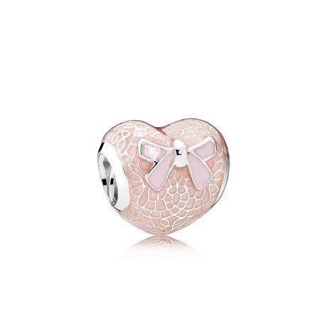 фотография шарм пандора кружевное сердце 792044ENMX