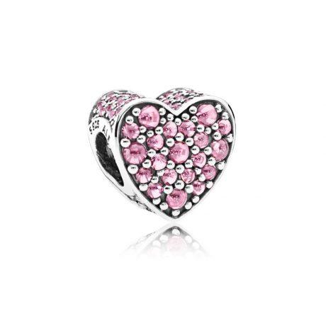 фотография шарм пандора сердце из капель росы 792069PCZ