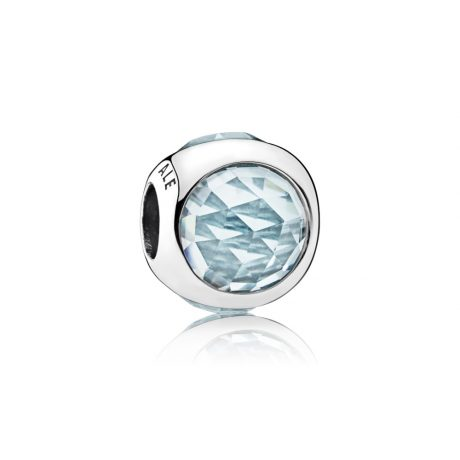 фотография шарм пандора сверкающий шар голубой 792095NAB