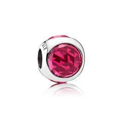 фотография шарм пандора сверкающий шар красный 792095NCC