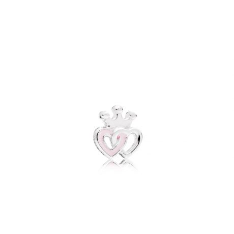 фотография crowned hearts petite locke charm петит пандора 792160EN40