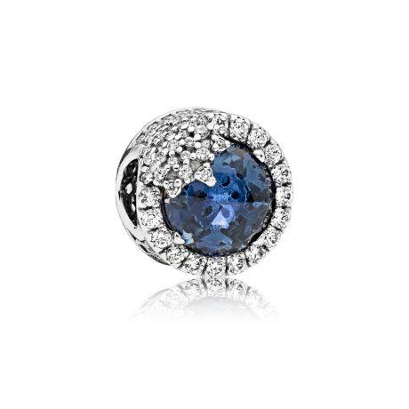 фотография шарм пандора голубая ослепительная снежинка 796358NTB