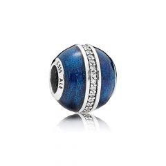 фотография шарм пандора сверкающий синий шар 796377EN63-5