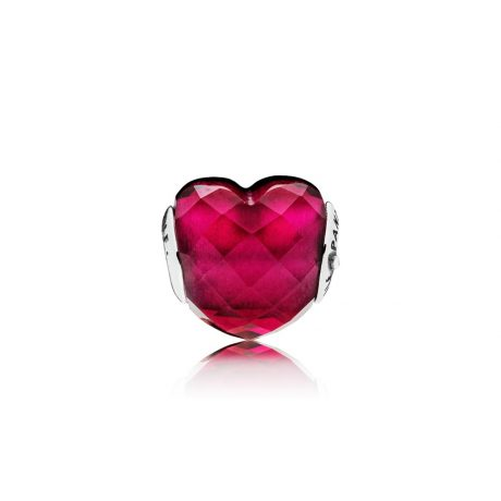 фотография шарм пандора малиновое сердце 796600NFR