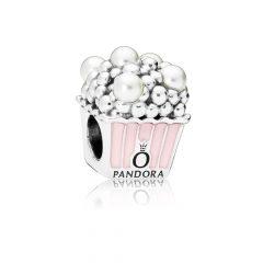 фотография шарм из серебра пандора, эмали и кристаллического жемчуга попкорн 797213EN160