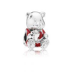 фотография шарм пандора рождественский мишка 797564ENMX-3