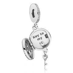 фотография подвеска пандора ключ к сердцу королевы 797660CZ №1