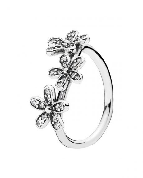 фотография кольцо пандора трио маргариток к09856с-2