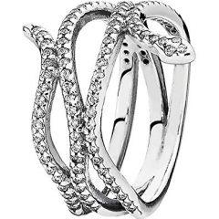 фотография кольцо пандора сияющая змея н45237м-1