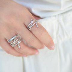 фотография кольцо пандора сияющая змея н45237м-1 №2