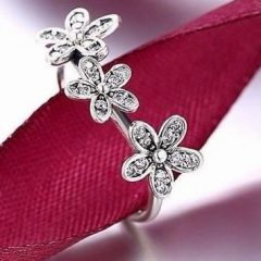 фотография кольцо пандора трио маргариток к09856с-2 №2