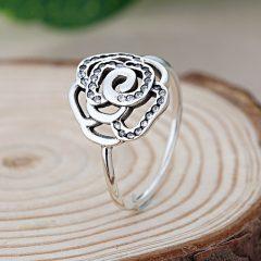 фотография кольцо пандора сверкающая роза н7965л-4 №1