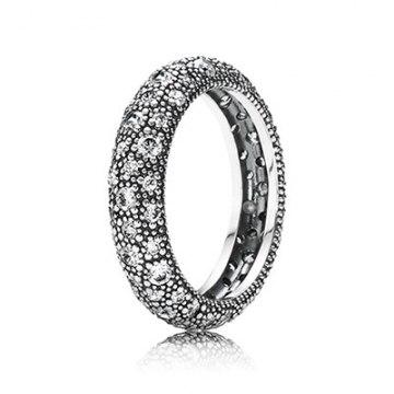 фотография кольцо пандора белая сверкающая вселенная м78564а-2