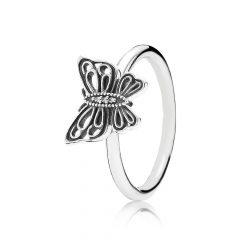 фотография кольцо пандора бабочка м67453а-3
