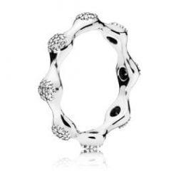 фотография кольцо пандора сверкающие капли с67453к-3